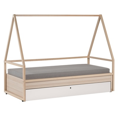Spot Kids Tipi Bed Amp Trolley With Trundle Drawer Single