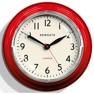 NEWGATE COOKHOUSE Wall Clock in Red