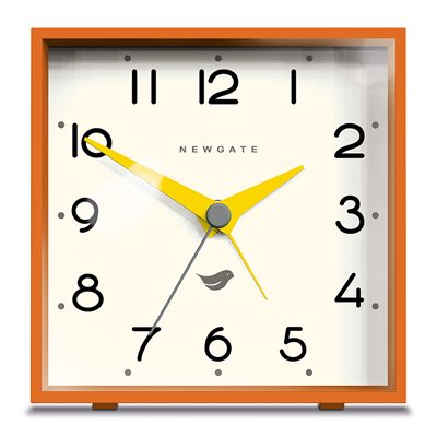 NEWGATE CUBIC Alarm Clock in Orange