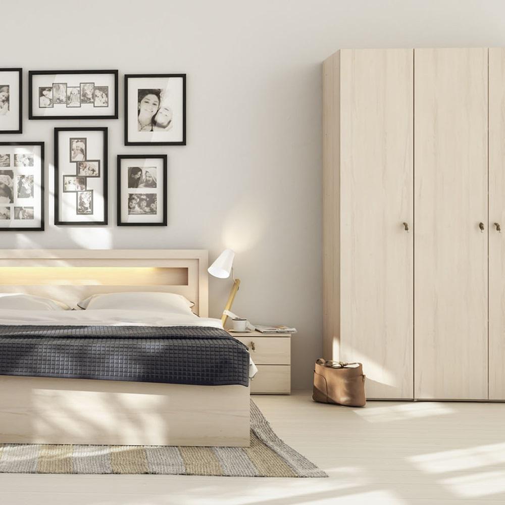 R o corner wardrobe in beech effect wardrobes cuckooland for Beech bedroom furniture