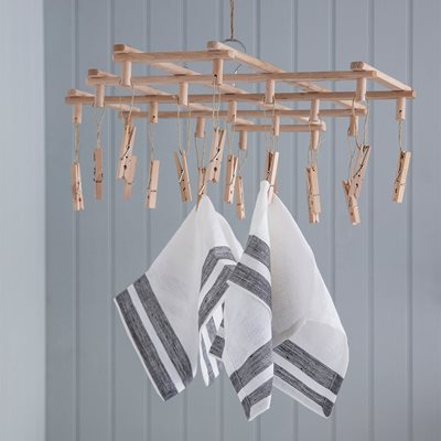GARDEN TRADING WOODEN CLOTHES PEG DRYER