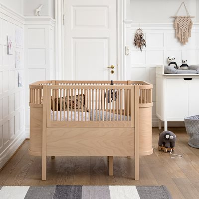 Sebra Expanding Cotbed to Junior Bed in Beech
