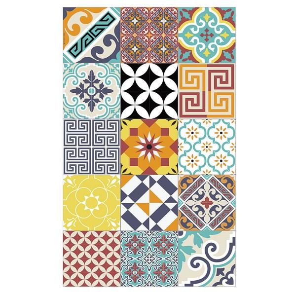 Beija Flor Modern Eclectic Floor Mat