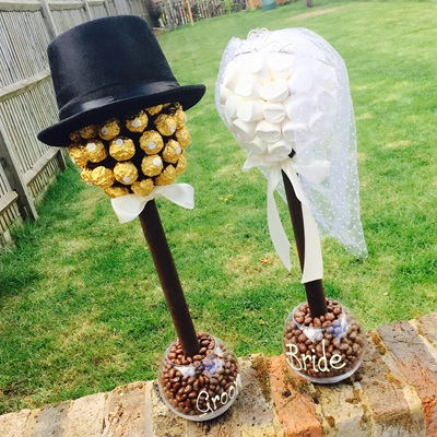 CHOCOLATE PERSONALISED WEDDING CENTREPIECE
