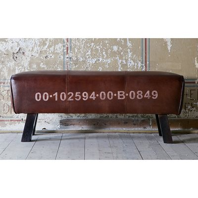 VINTAGE LEATHER BENCH & SEAT