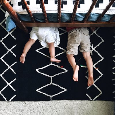 LORENA CANALS BEREBER BLACK WASHABLE KIDS RUG