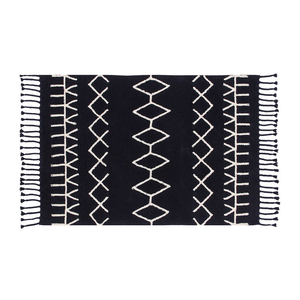 Lorena Cs Bereber Black Washable Rug