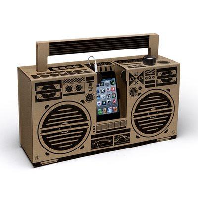 BERLIN BOOMBOX DIY CARDBOARD SMARTPHONE SPEAKER in Brown