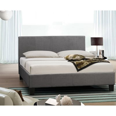 BERLIN UPHOLSTERED BED in Grey by Birlea
