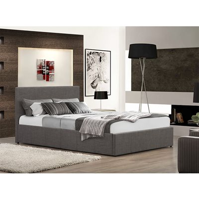 BERLIN UPHOLSTERED OTTOMAN BED in Grey by Birlea