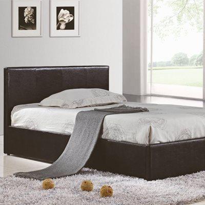 BERLIN OTTOMAN BED in Faux Brown Leather by Birlea
