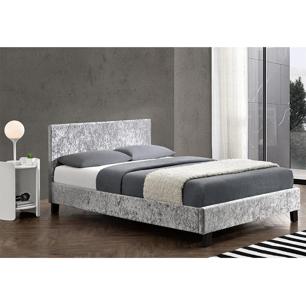 Berlin Upholstered Bed In Steel By Birlea Beds Cuckooland