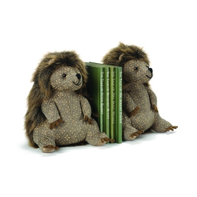 BERTIE BRISTLES Hedgehog Animal Bookends by Dora Designs