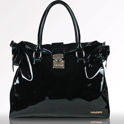 BETHANY PATENT LEATHER CHANGING BAG in Black