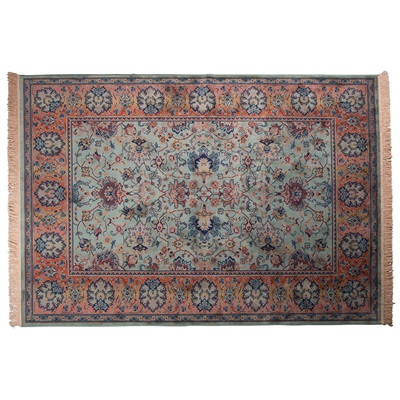 BID ANTIQUE STYLE PERSIAN RUG in Old Green
