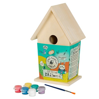 LITTLE THOUGHTFUL GARDENER KIDS PAINT YOUR OWN BIRDHOUSE