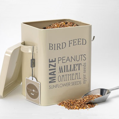 BIRD FEED TIN In Cream by Burgon and Ball
