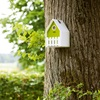 Birdhouse in White & Green