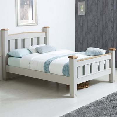 WOODSTOCK BED FRAME in Grey and Oak By Birlea