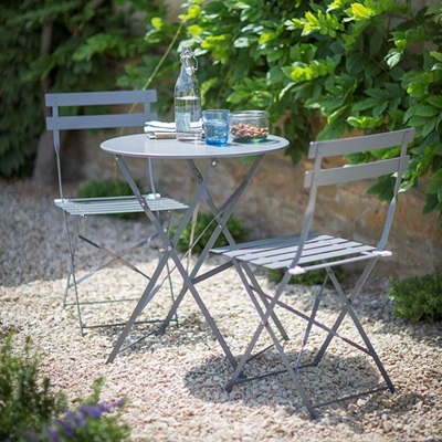 2 SEATER BISTRO TABLE & CHAIRS SET in Shutter Blue