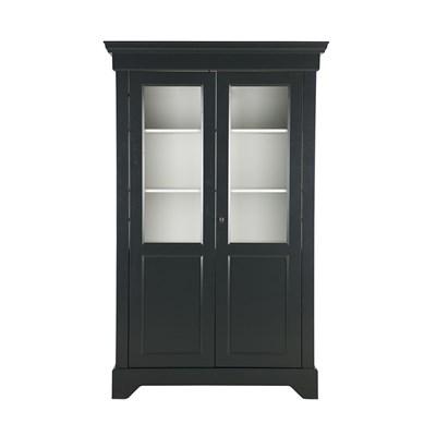 Black-Anna-Display-Cabinet-in-Pine.jpg ...  sc 1 st  Cuckooland & Anna Solid Pine Display Cabinet In Black - Woood   Cuckooland