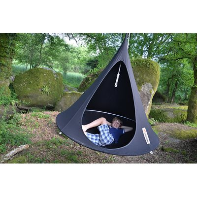 DOUBLE HANGING CACOON in Black
