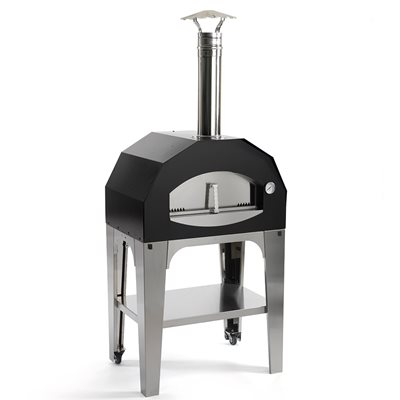 CAPRICCIOSA WOOD FIRED PIZZA OVEN in Black