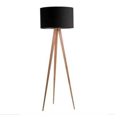 ZUIVER WOODEN TRIPOD LAMP in Black