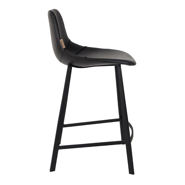 Dutchbone Set of 2 Franky Counter Bar Stools in Black