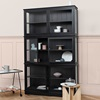 Small Glass Cabinet in Seaside Black