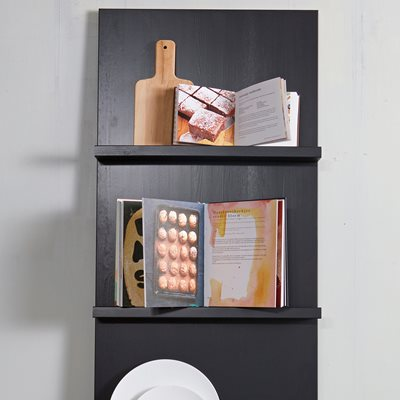 WALL MOUNTED DISPLAY SHELF in Black