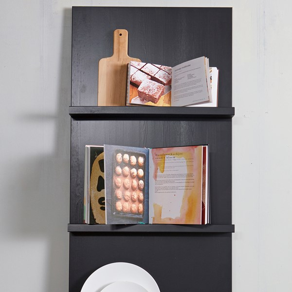 Wall Mounted Display Shelf in Black