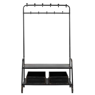DUTCHBONE LUCIUS IRON COAT STAND with Shelves