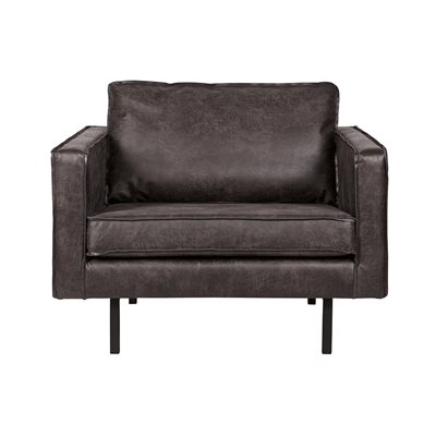 RODEO LEATHER ARMCHAIR in Black by Be Pure Home