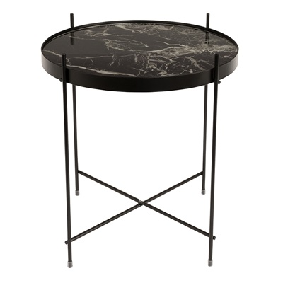 ZUIVER CUPID MARBLE SIDE TABLE in Black