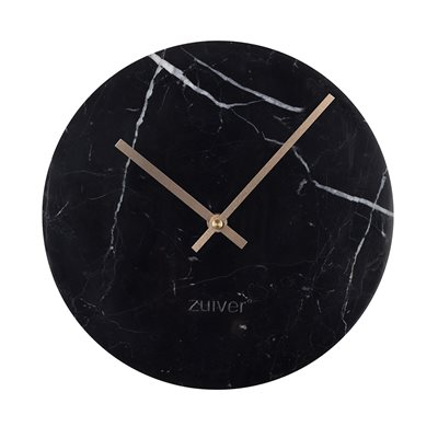 ZUIVER MARBLE TIME WALL CLOCK in Black