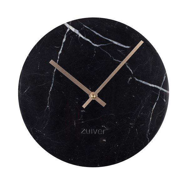 Marble Time Wall Clock in Black