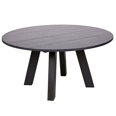 RHONDA ROUND DINING TABLE in Blacknight Oiled Oak