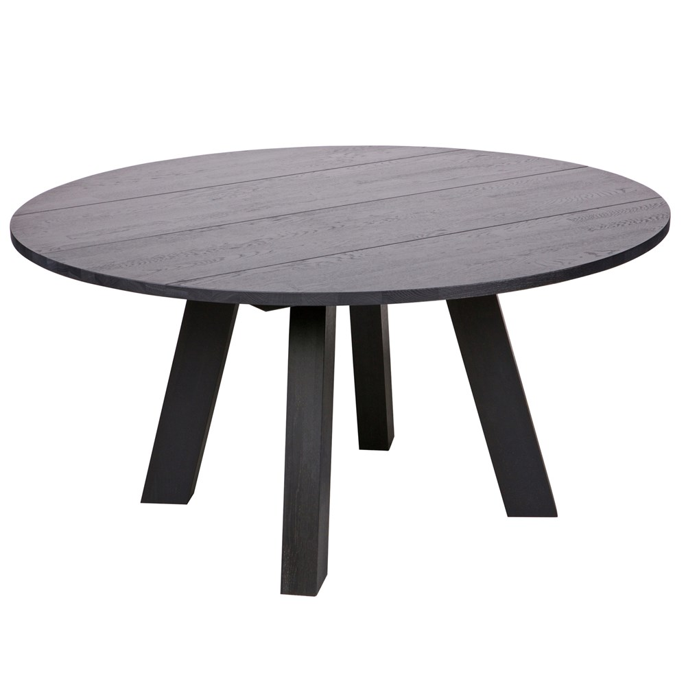 Rhonda Round Dining Table In Blacknight Oiled Oak By Woood