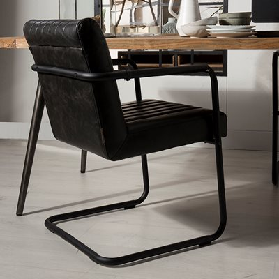 MODERN STITCHED OFFICE ARMCHAIR in PU Leather