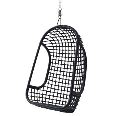 Gentil Black Rattan Hanging Chair ...