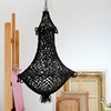 Hand Knotted Macrame Chandelier in Black