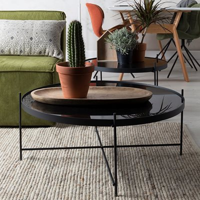 CUPID LIVING ROOM SIDE TABLE in Black Finish