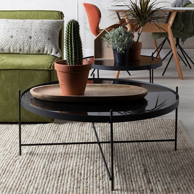 Zuiver Cupid Living Room Coffee Table in Black Finish