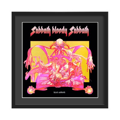 BLACK SABBATH FRAMED ALBUM WALL ART in Sabbath Bloody Sabbath Print