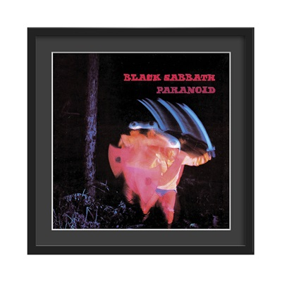 BLACK SABBATH FRAMED ALBUM WALL ART in Paranoid Print