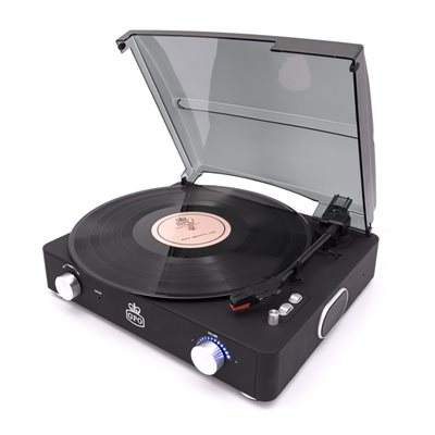 GPO Stylo II Record Player in Black