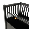 Wooden Storage Bench in Black from Oliver Furniture