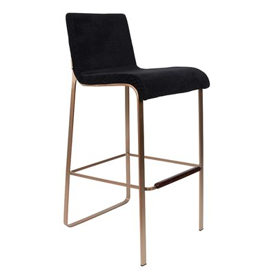 DUTCHBONE FLOR UPHOLSTERED BAR STOOL in Black