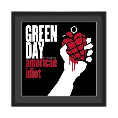 GREEN DAY FRAMED ALBUM WALL ART in American Idiot Print